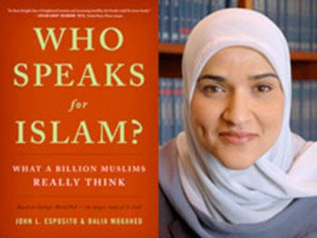 "Click on image for information about the book, ""Who Speaks for Islam?"""